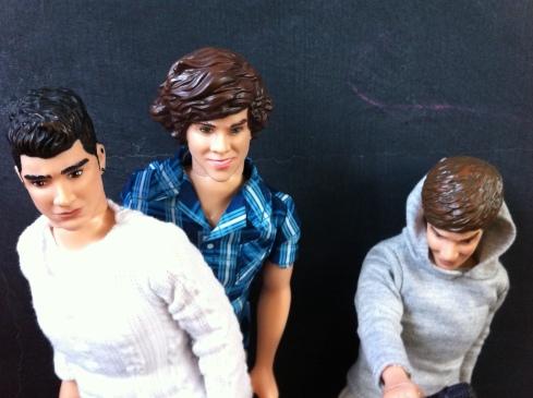 Zayn, Hazza y Liam en la moto